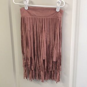 Little Girl knee length fringe skirt